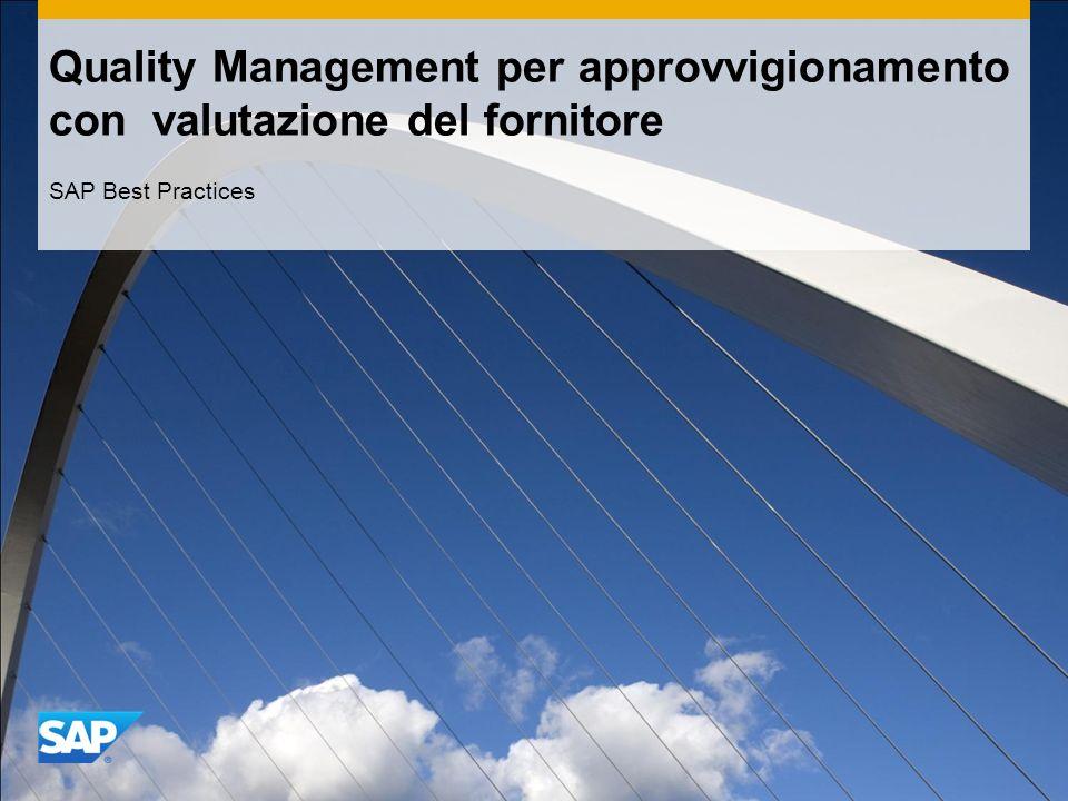 Quality Management per approvvigionamento con valutazione del fornitore