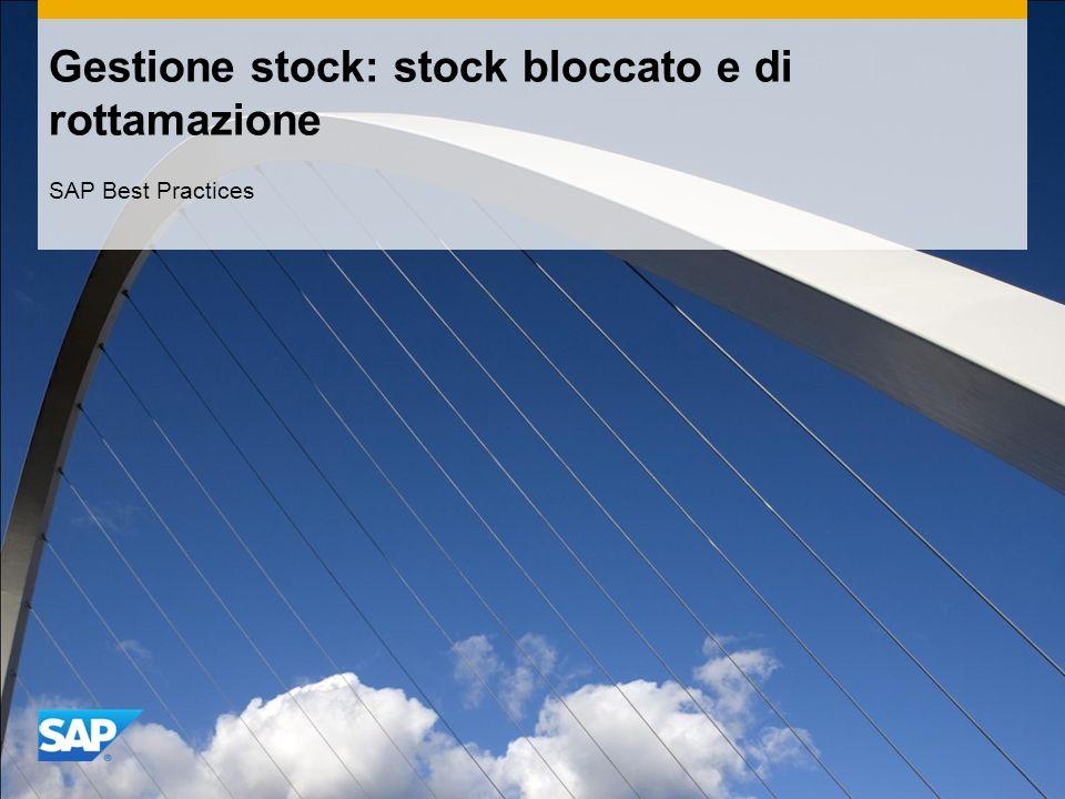 Gestione stock: stock bloccato e di rottamazione