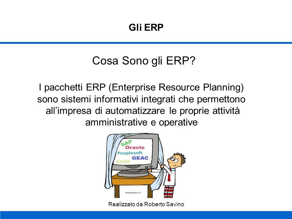 Cosa Sono gli ERP Gli ERP