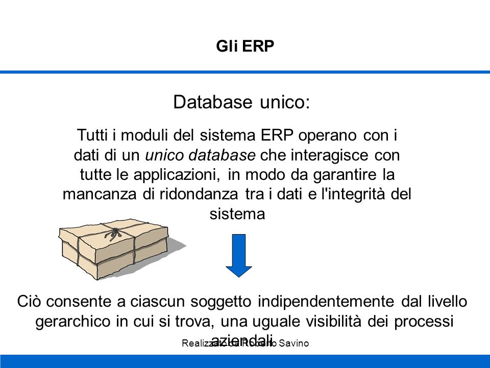 Database unico: Gli ERP