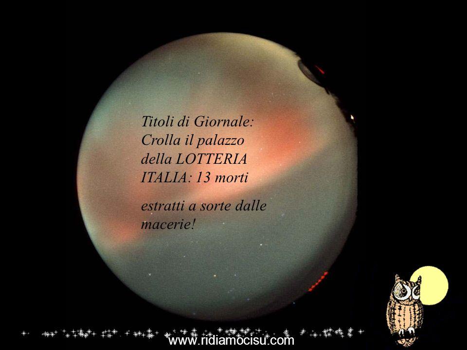 Titoli di Giornale: Crolla il palazzo della LOTTERIA ITALIA: 13 morti