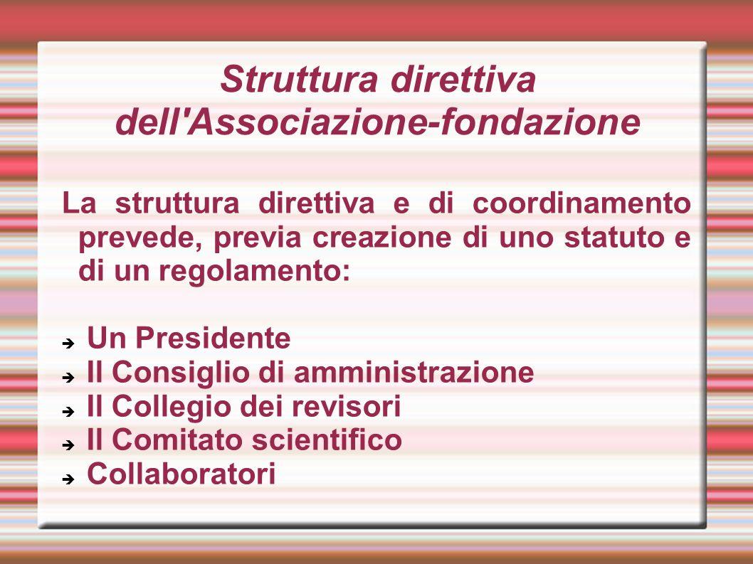 Struttura direttiva dell Associazione-fondazione