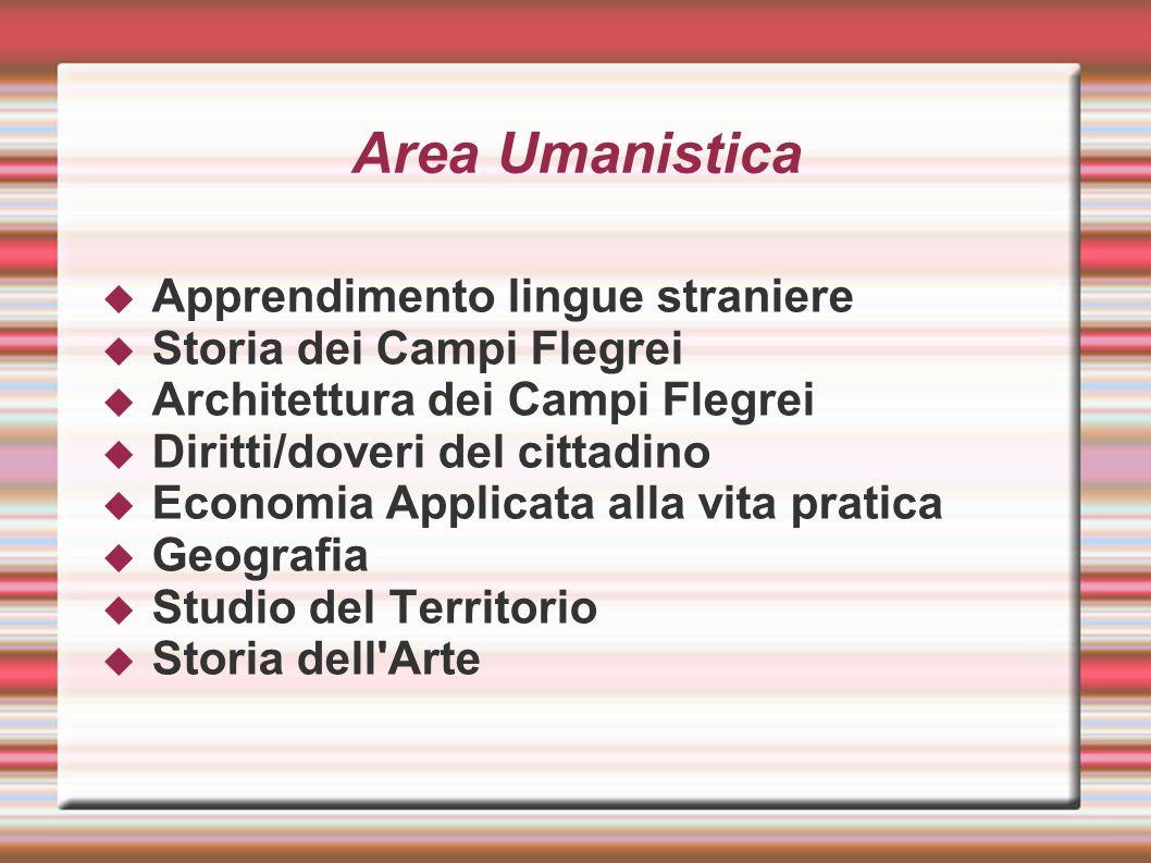 Area Umanistica Apprendimento lingue straniere