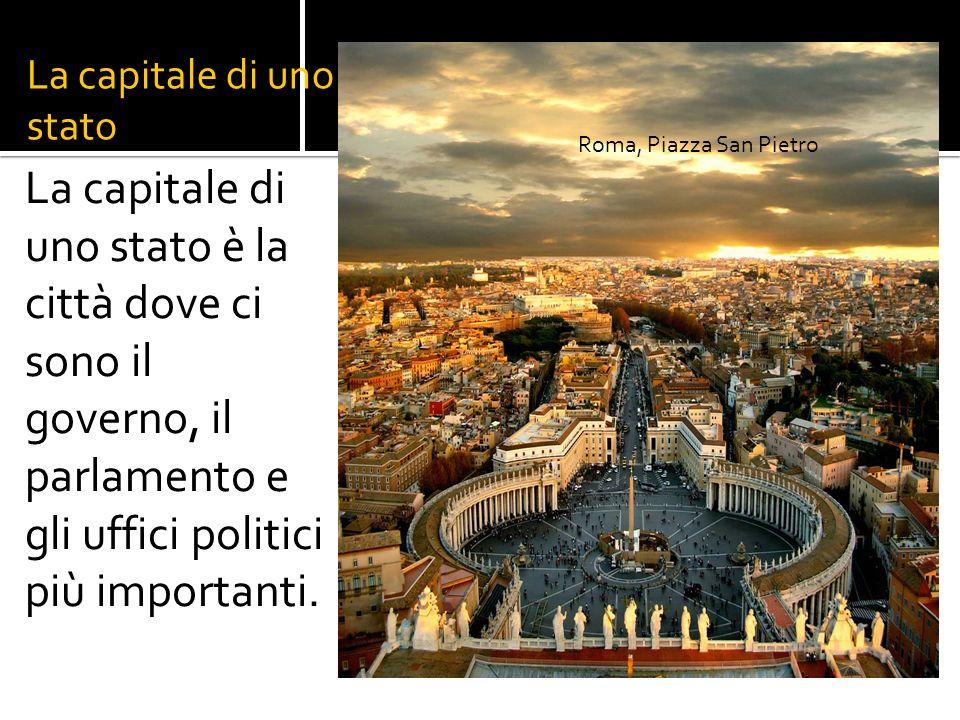 La capitale di uno stato