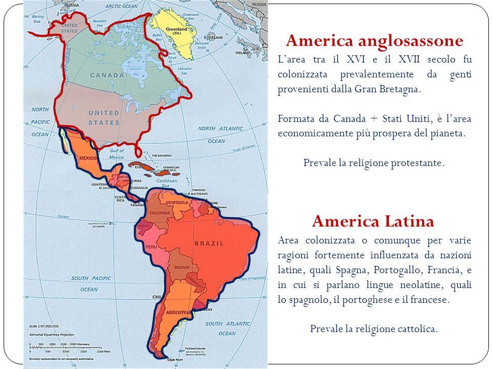 America anglosassone America Latina