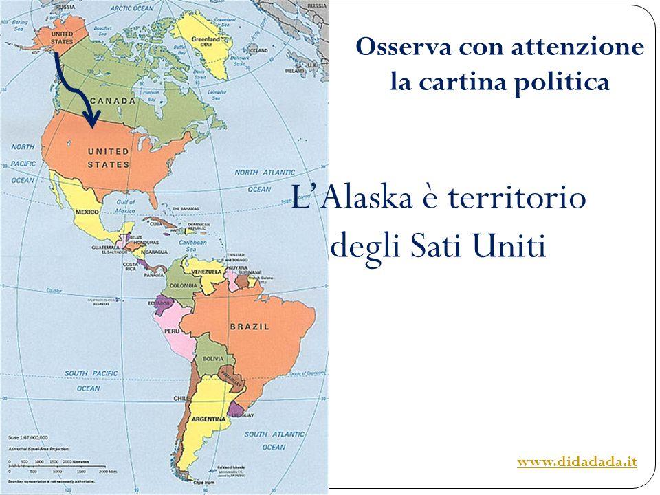 Osserva con attenzione la cartina politica