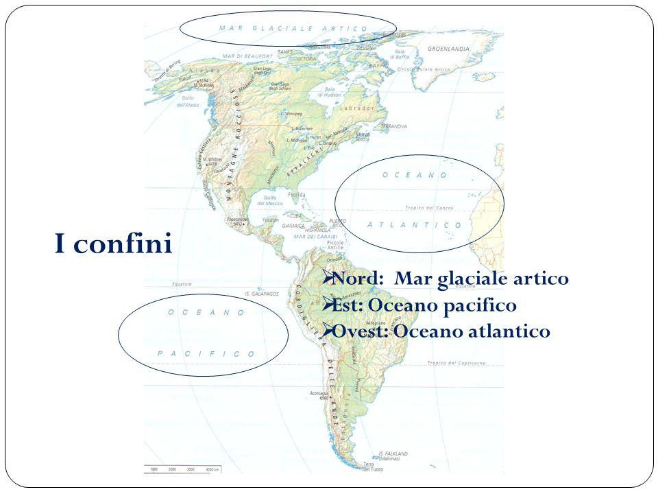 I confini Nord: Mar glaciale artico Est: Oceano pacifico