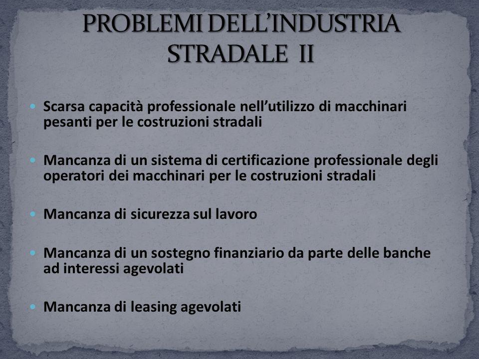 PROBLEMI DELL'INDUSTRIA STRADALE II