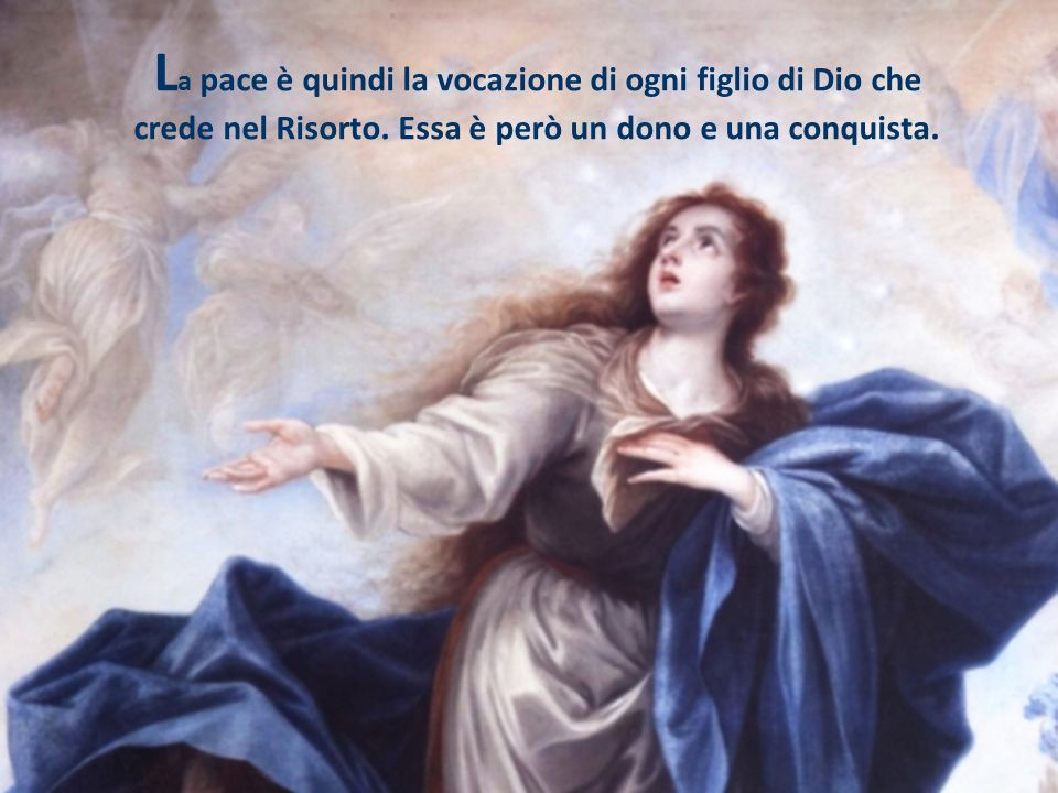La pace è quindi la vocazione di ogni figlio di Dio che crede nel Risorto.
