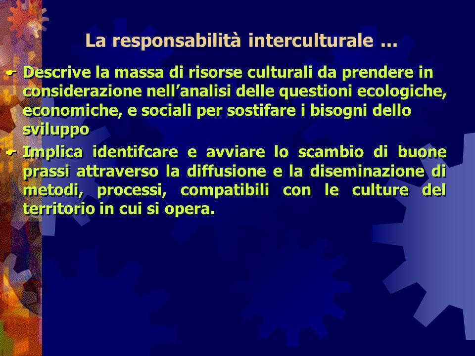 La responsabilità interculturale ...