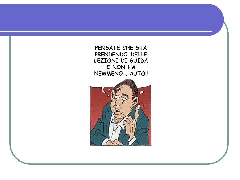 PENSATE CHE STA PRENDENDO DELLE LEZIONI DI GUIDA E NON HA NEMMENO L'AUTO!!