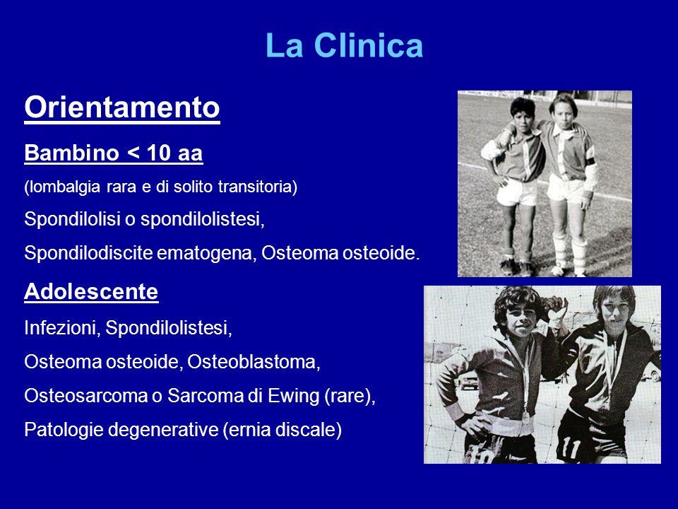 La Clinica Orientamento Bambino < 10 aa Adolescente