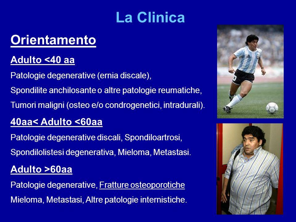 La Clinica Orientamento Adulto <40 aa 40aa< Adulto <60aa