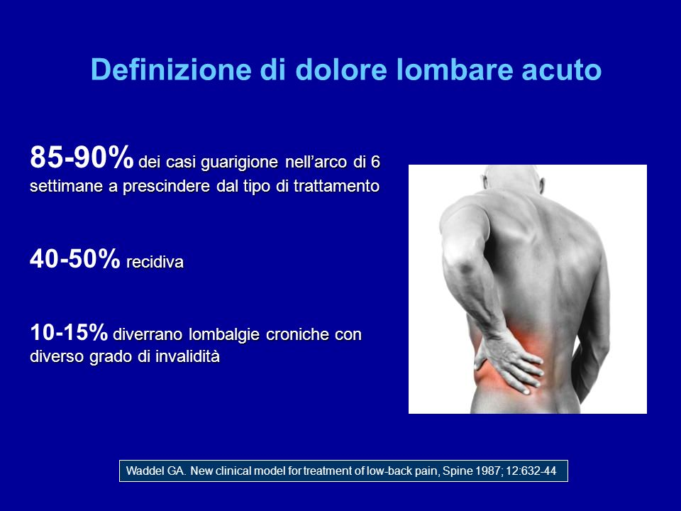 Definizione di dolore lombare acuto