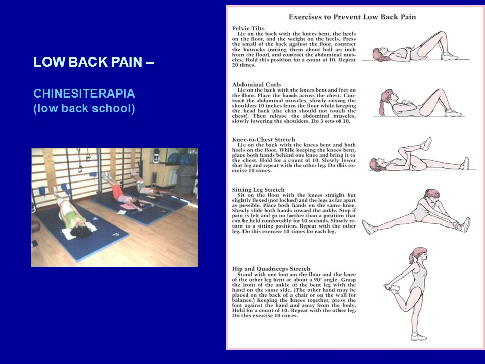 LOW BACK PAIN – CHINESITERAPIA (low back school)