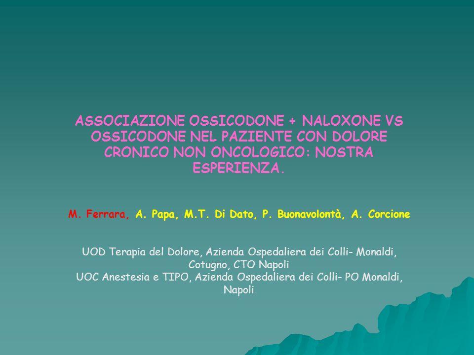 M. Ferrara, A. Papa, M.T. Di Dato, P. Buonavolontà, A. Corcione