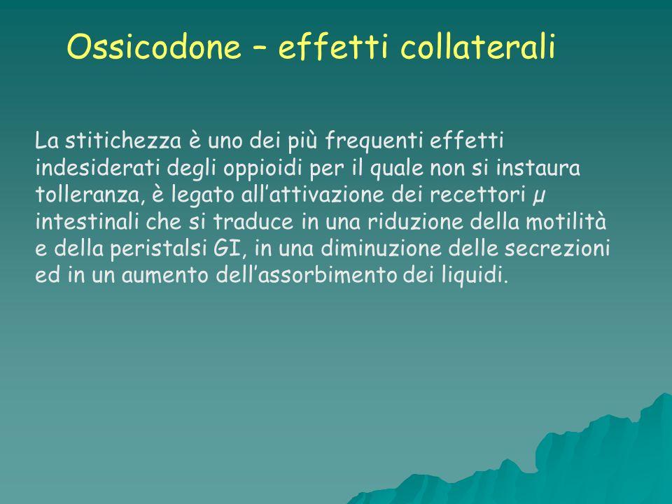 Ossicodone – effetti collaterali