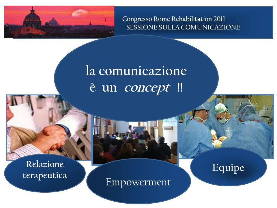 la comunicazione è un concept !! Relazione terapeutica