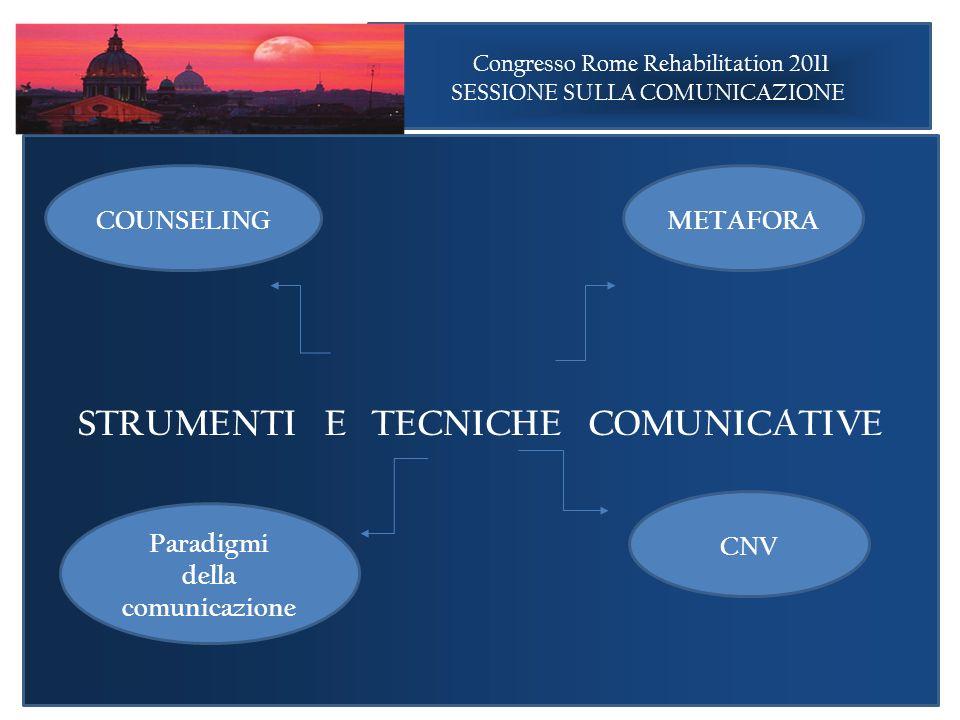 STRUMENTI E TECNICHE COMUNICATIVE