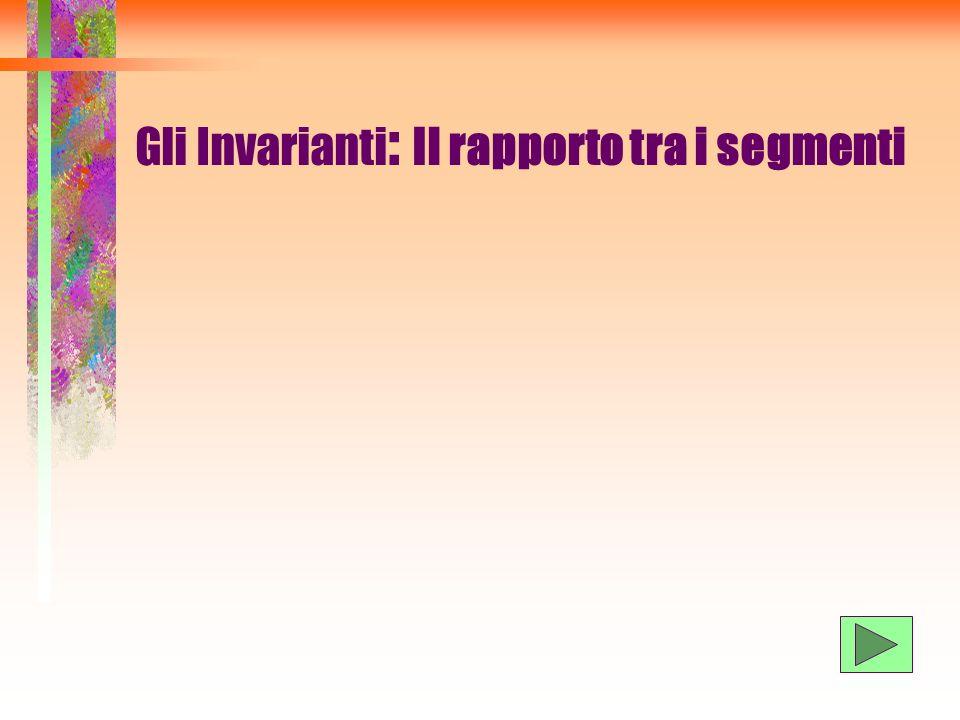 Gli Invarianti: Il rapporto tra i segmenti