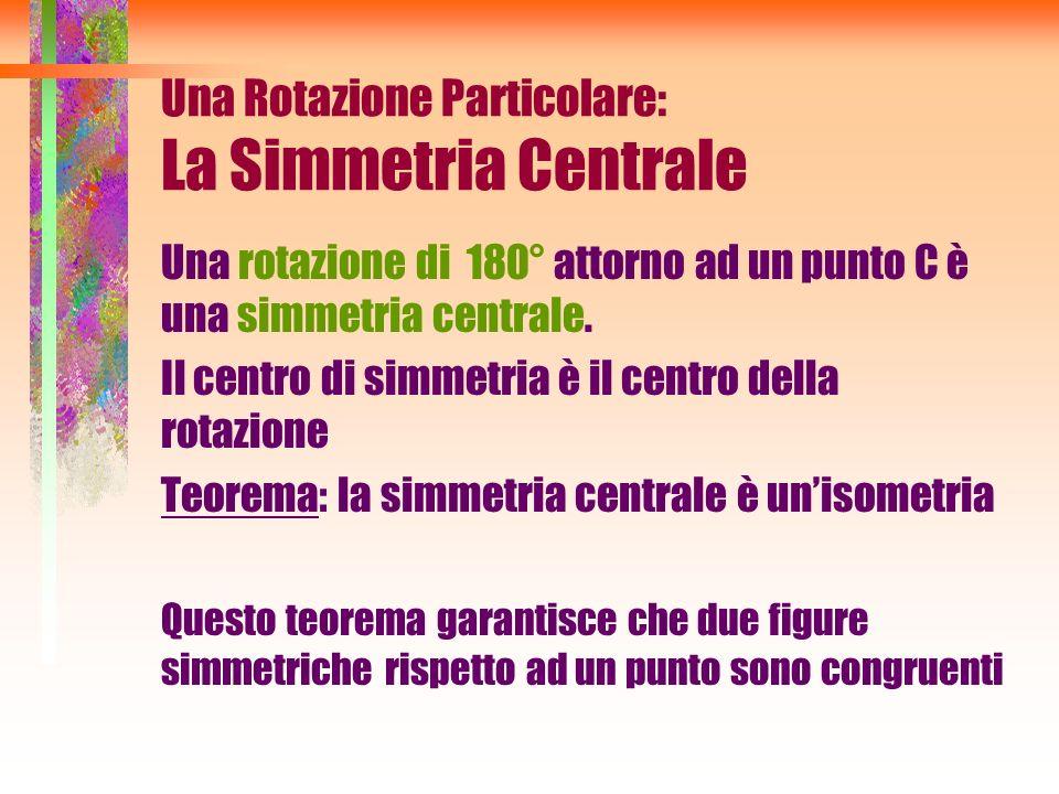 Una Rotazione Particolare: La Simmetria Centrale