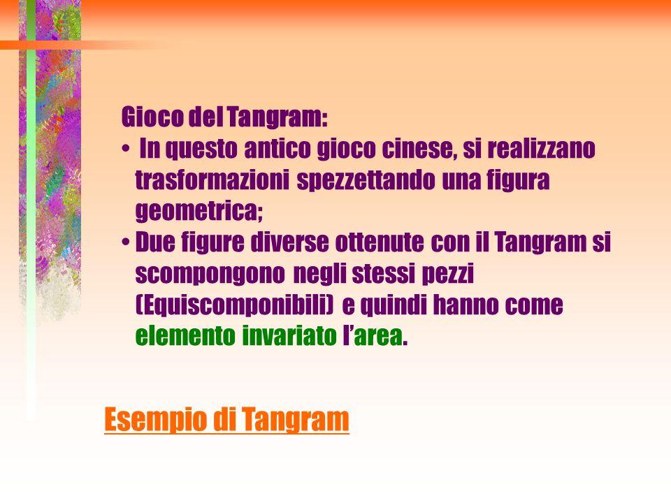 Esempio di Tangram Gioco del Tangram: