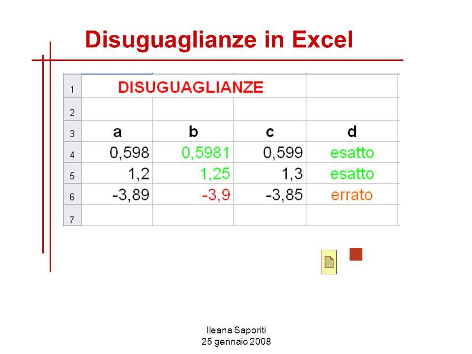 Disuguaglianze in Excel