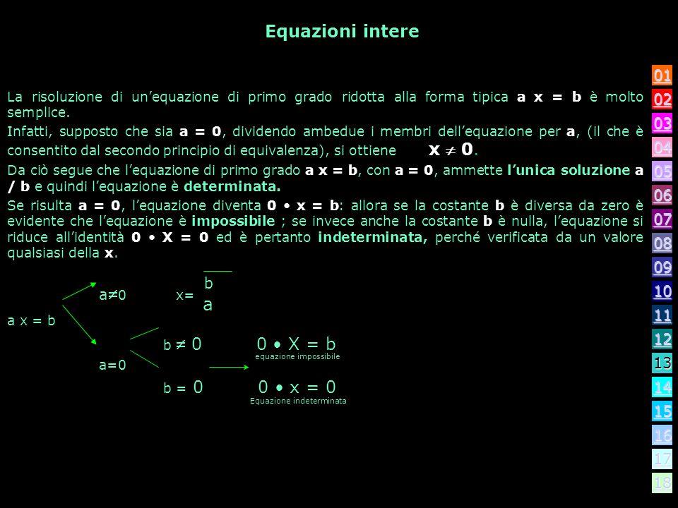 Equazioni intere 04. 03. 10. 11. 12. 14. 13. 16. 17. 18. 09. 08. 07. 06. 02. 01. 05.