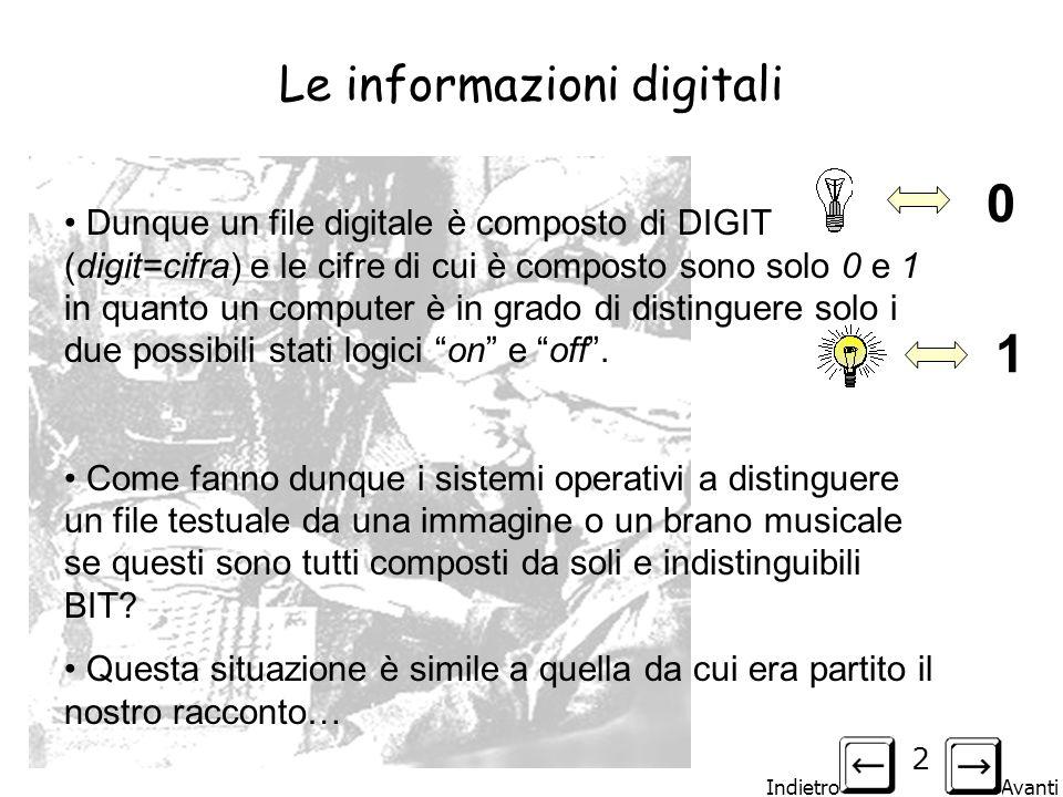 Le informazioni digitali
