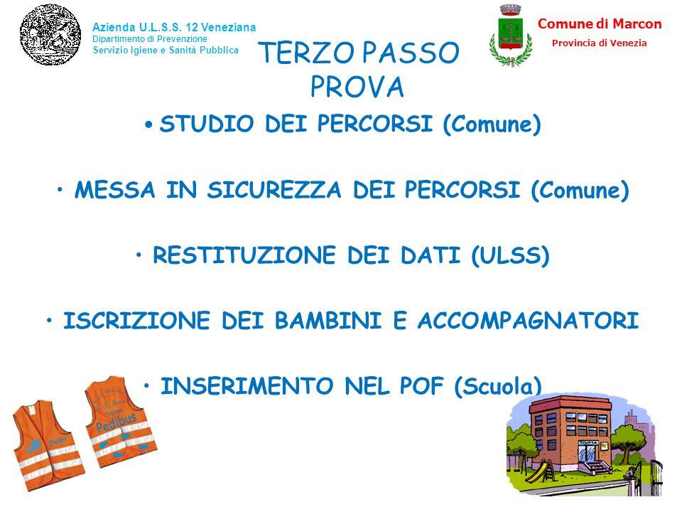 TERZO PASSO PROVA STUDIO DEI PERCORSI (Comune)