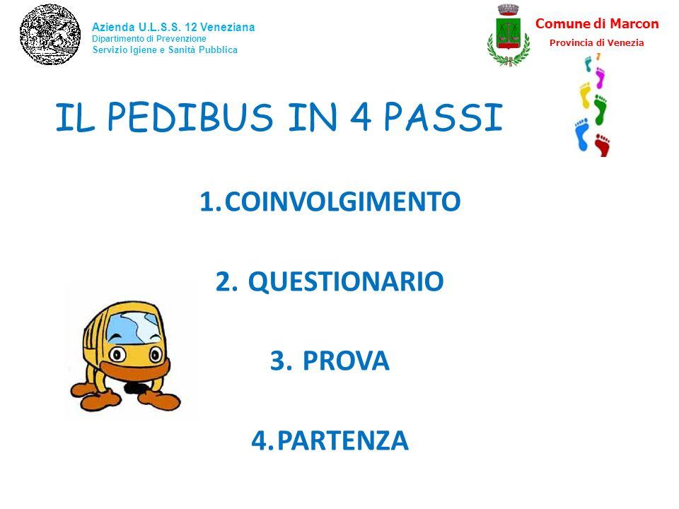 IL PEDIBUS IN 4 PASSI COINVOLGIMENTO QUESTIONARIO PROVA PARTENZA