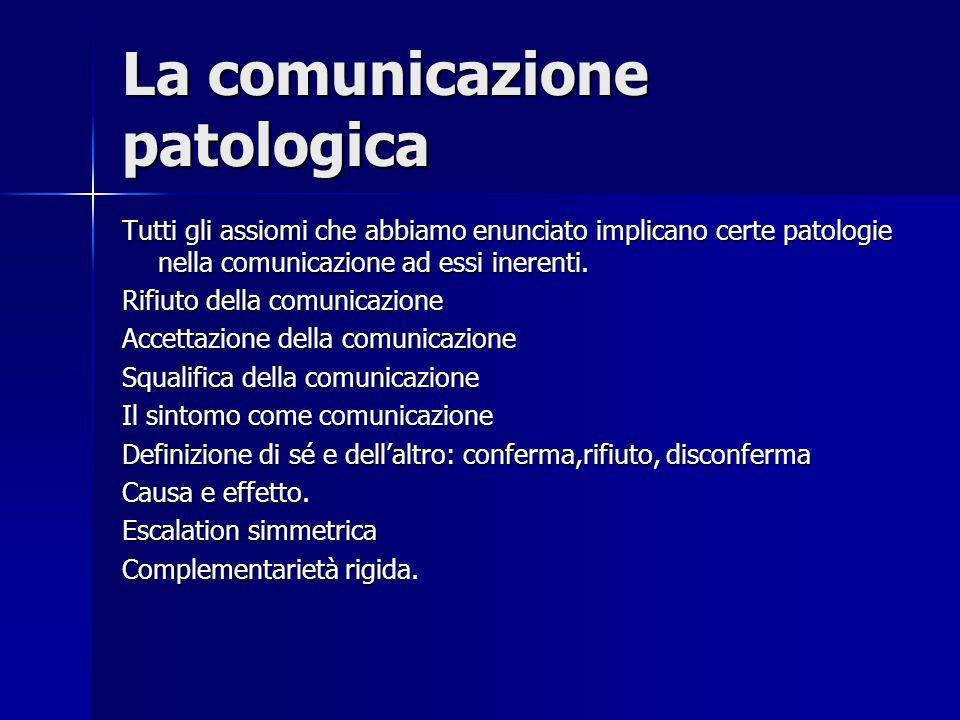 La comunicazione patologica