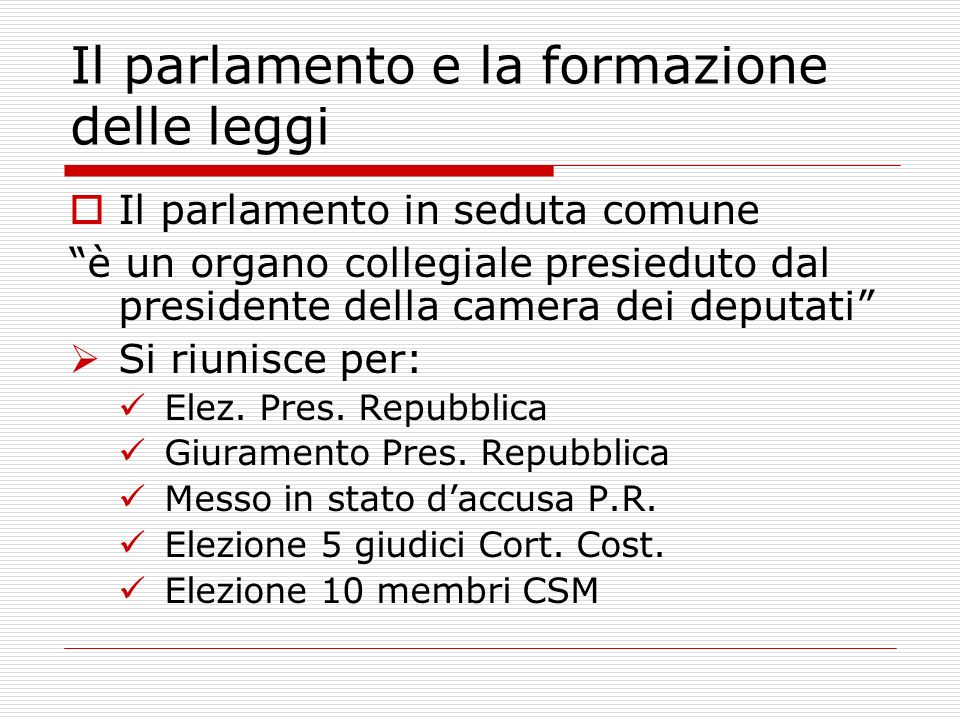 Il parlamento e la formazione delle leggi ppt video for Camera dei deputati commissioni