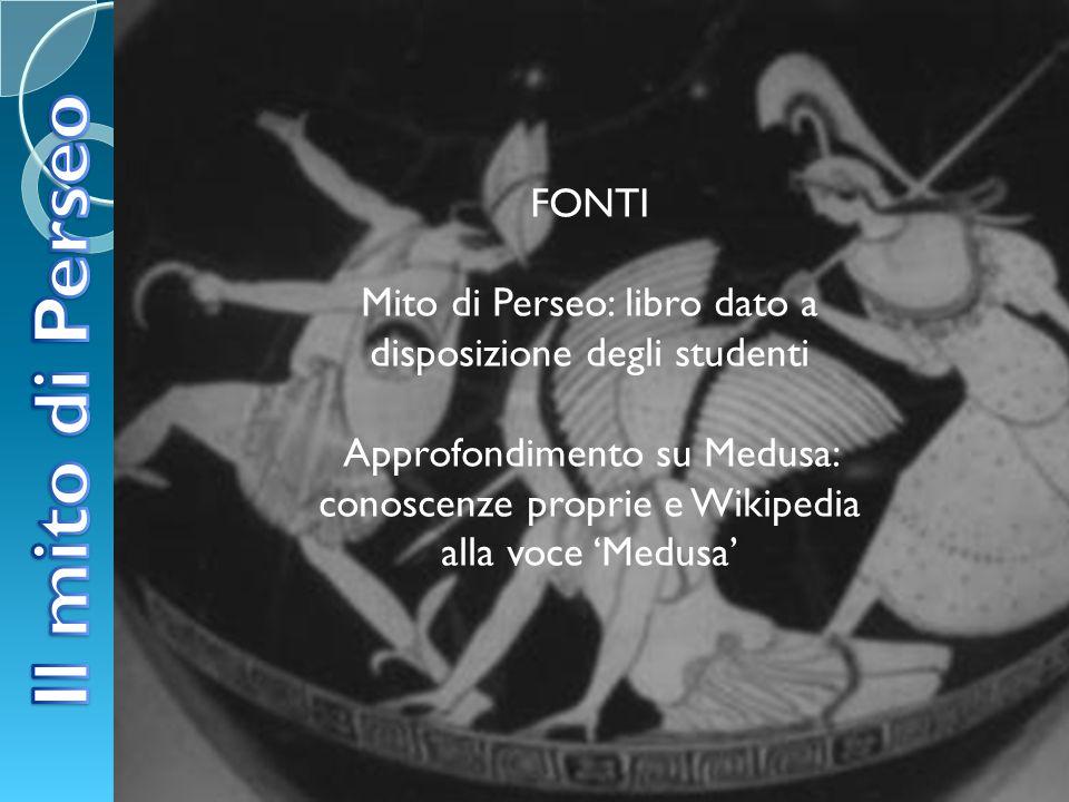 Mito di Perseo: libro dato a disposizione degli studenti