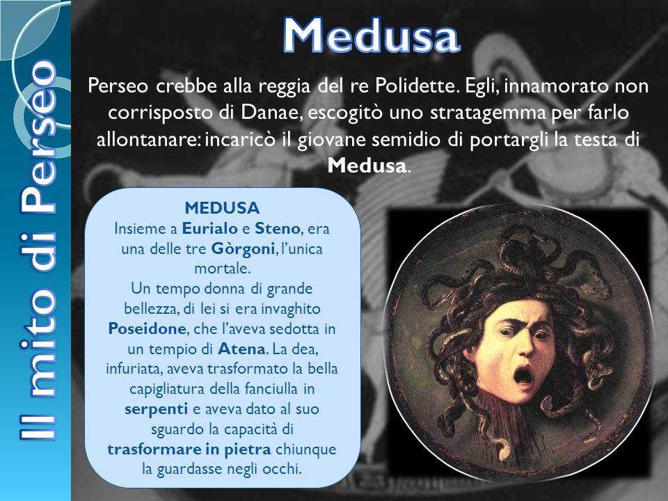 Insieme a Eurialo e Steno, era una delle tre Gòrgoni, l'unica mortale.