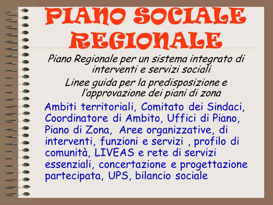 PIANO SOCIALE REGIONALE