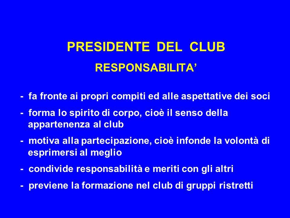 PRESIDENTE DEL CLUB RESPONSABILITA'