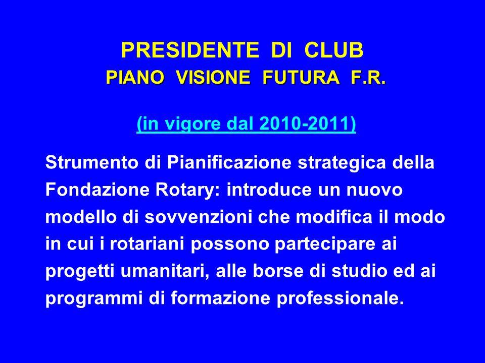 PRESIDENTE DI CLUB PIANO VISIONE FUTURA F.R.