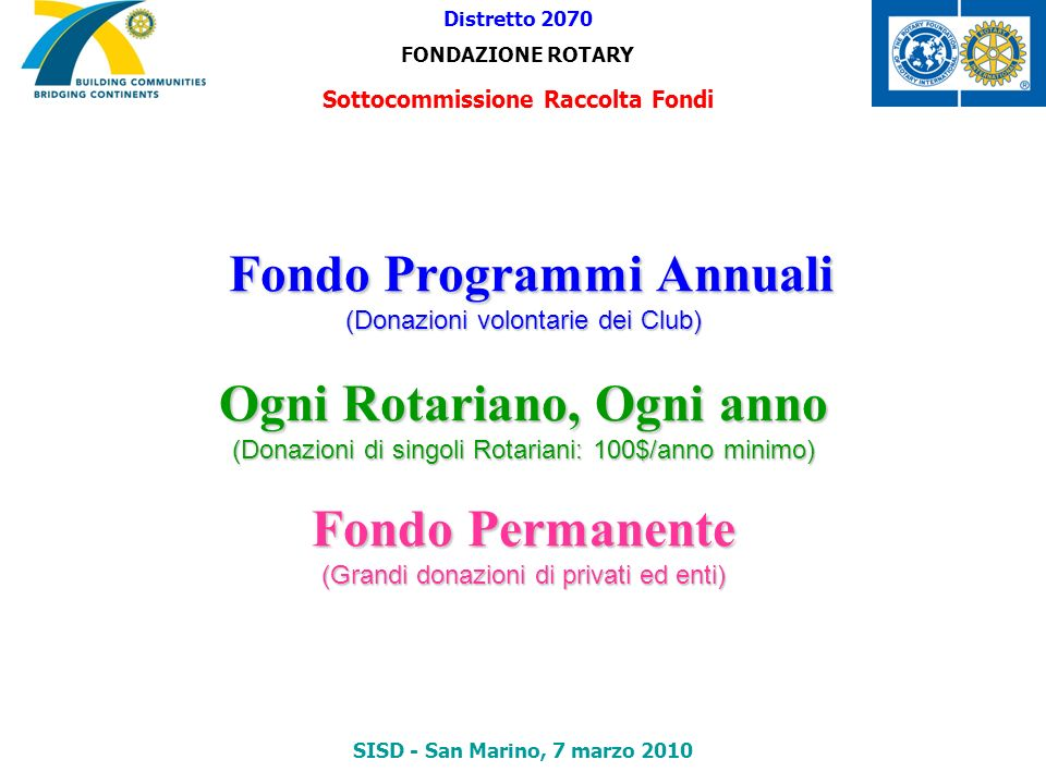 Sottocommissione Raccolta Fondi