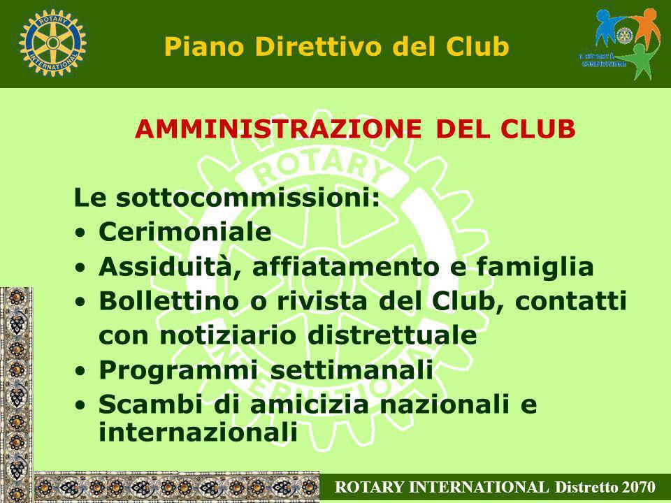 Piano Direttivo del Club
