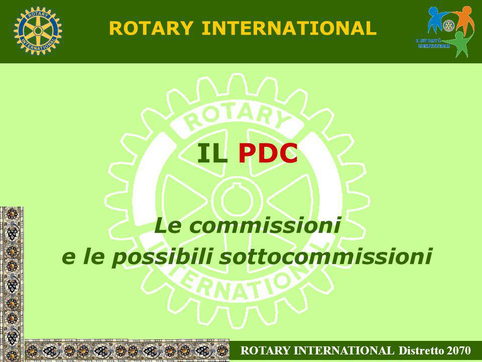 e le possibili sottocommissioni ROTARY INTERNATIONAL Distretto 2070