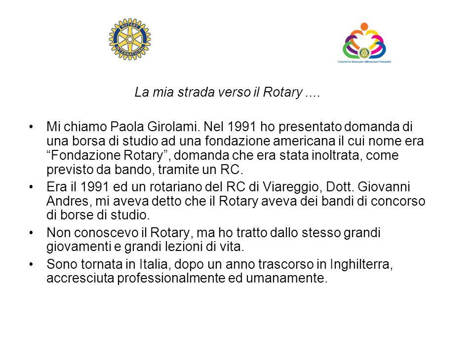 La mia strada verso il Rotary ....