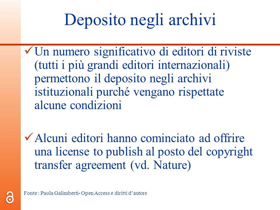 Deposito negli archivi