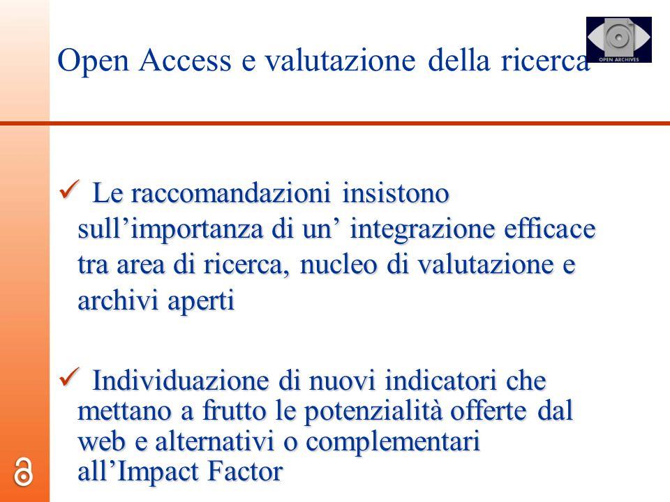 Open Access e valutazione della ricerca