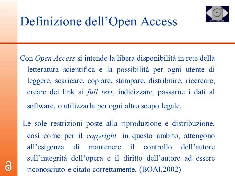 Definizione dell'Open Access