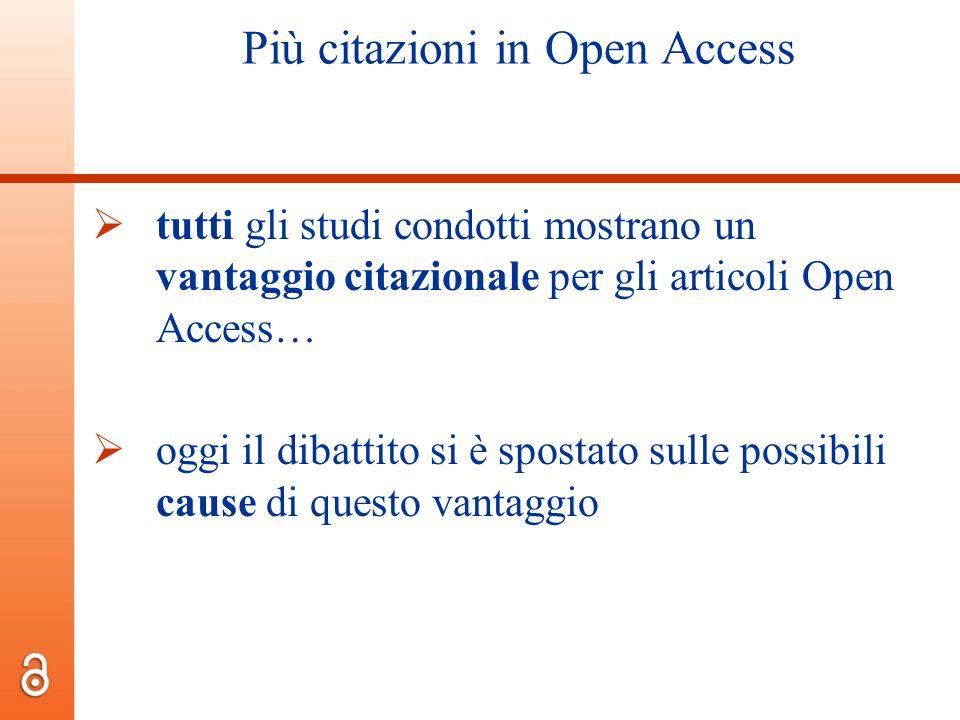 Più citazioni in Open Access