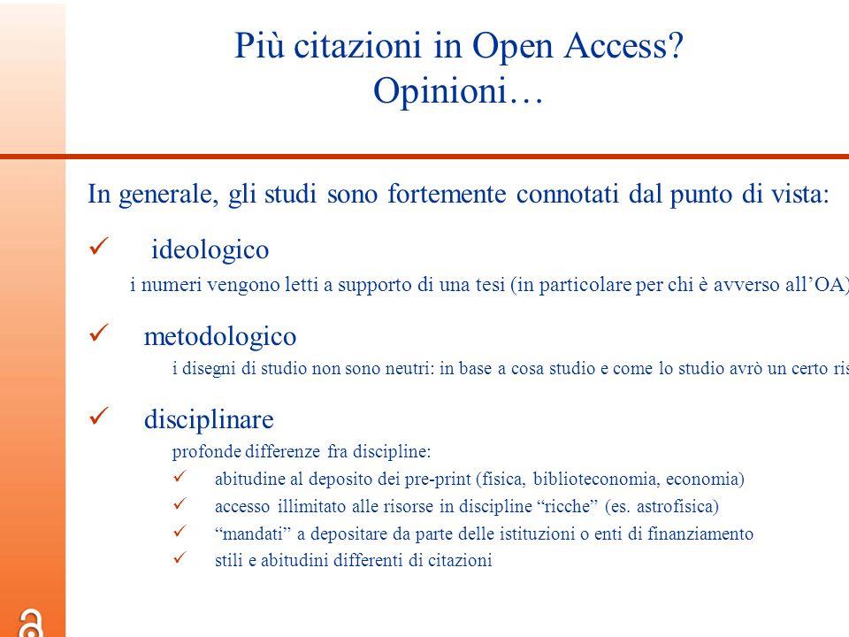 Più citazioni in Open Access Opinioni…
