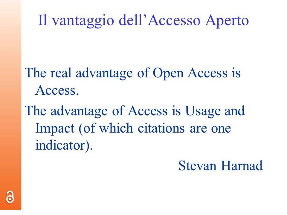 Il vantaggio dell'Accesso Aperto