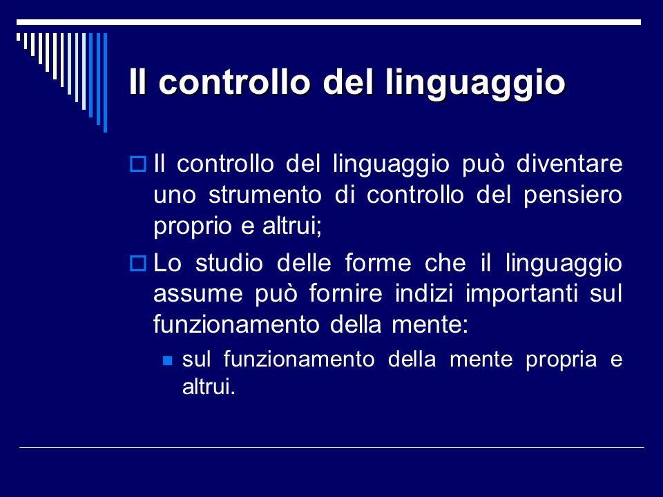 Il controllo del linguaggio