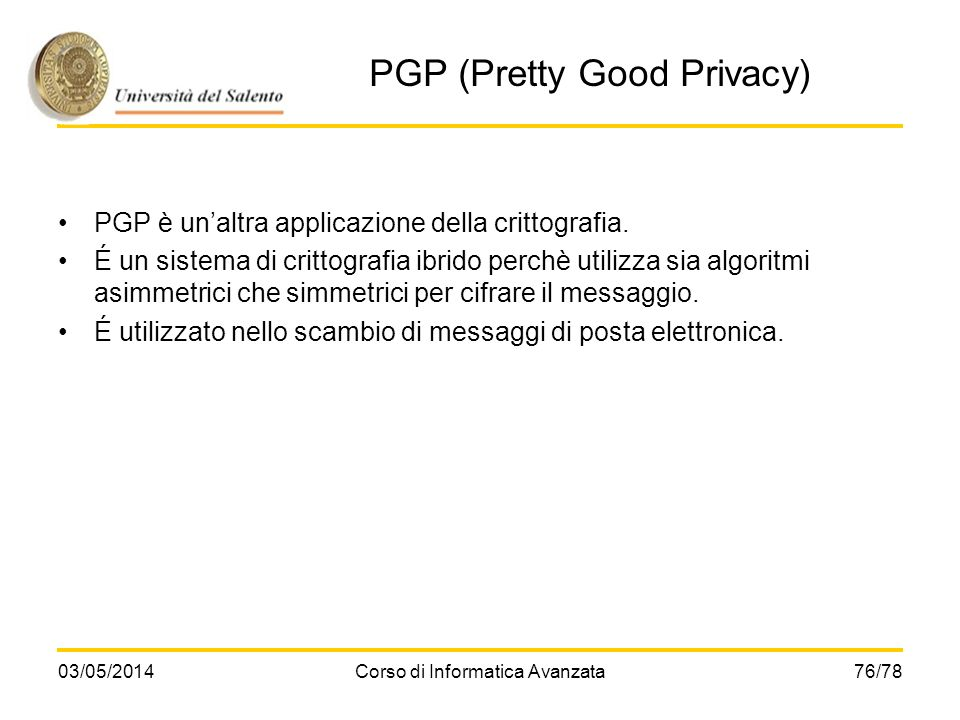 PGP (Pretty Good Privacy)